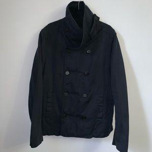 ALLSAINTS round collar pea coat